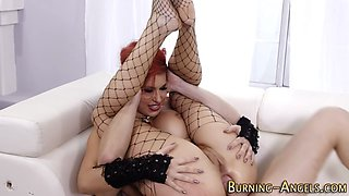 Tattooed emo milf pounded