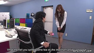 asian office slave aika pleases her dominant workmate orally