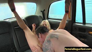 busty fem cabbie facefucked before spunked