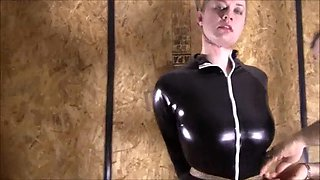 Bondage, suspension and latex girl! Gil877