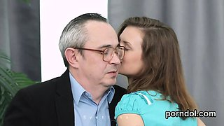 Pretty schoolgirl gets seduced and penetrated by her older s