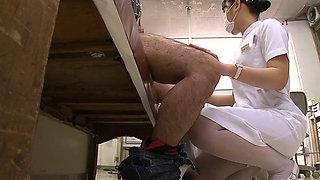 Deep Throating Japanese Nurse