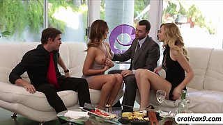A passionate foursome with Alex Grace and Melissa Moore