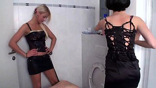Princess Paris and friend dominate slaves