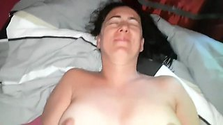 wife fucks and rubs her clit