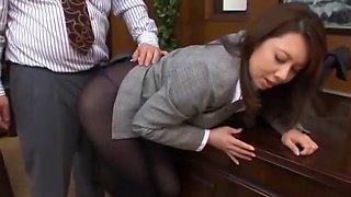 Amazing Japanese slut Yumi Kazama in Hottest Secretary, Ass JAV scene