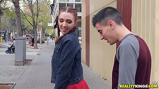 Brunette teen with pigtails Pamela Sanchez pounded doggy style