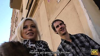 HUNT4K. Neighbor guy becomes cuckold when sells his..