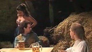 Voracious redhead Swedish lady of BBW type blows dick