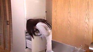 Best Japanese model Mami Asakura in Crazy Blowjob/Fera, Kitchen JAV video