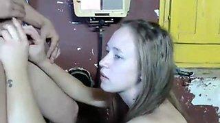 Blonde cam facial
