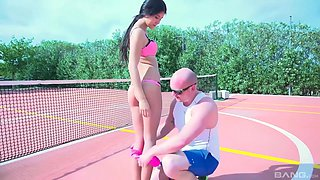 Dick craving cutie Lady D spreads her legs for a great shag