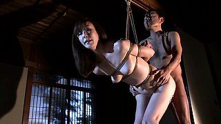 Kinky Asian wife gets tied up, spanked hard and fucked rough