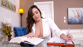 Big natural tits tutor distructs student