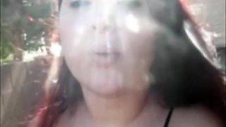 Crazy amateur Smoking, Outdoor porn video