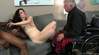 Pretty brunette hoe Sarah Shevon cheats on her cuckold husband