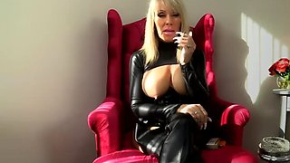 Smoking mistress cock tease