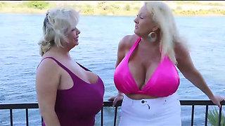 Kayla Kleevage & Claudia   BT Lesbians
