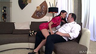Delicious Asian hottie Pussykat is serving her client like nobody else before