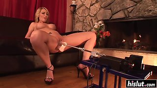 missy woods gets plowed by a machine
