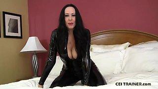 I am cruel mistress who will make you eat your cum CEI