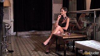 Amazing sex session with petite brunette goddess Tina Kay