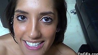 Perfect latina fucks and gets a nice facial in an audition