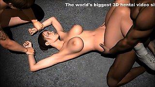 3 Way Slut - Crazy 3D anime xxx world