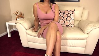 Busty long legged hottie Candi Kayne does nothing but expose her pussy
