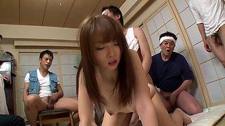 Best Japanese girl in Amazing Group Sex, MILF JAV clip