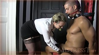 mistress t gets her self a new sex slave