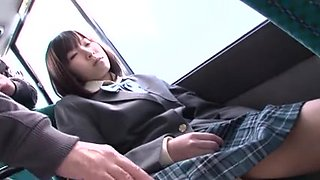 Big-titted teen gets fucked in a Japanese bus