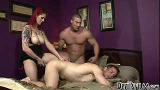 Lusty tranny Soma Snake Oil fucks Jack Jones and Alexx Spears