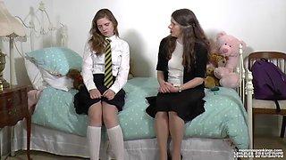 Misty&#39s after school spanking