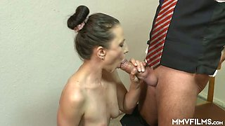 Horn-mad hubby Valeria Jones takes a chance to be pleased by pretty wife