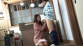 Fabulous Japanese girl Marina Matsumoto, Megumi Shino in Incredible Threesome JAV scene