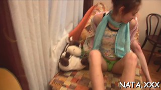 pussy insertion in a toilet