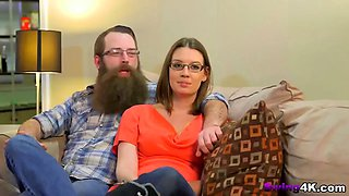 bearded guy is an experienced swinger dude who bangs bad bitches regularly