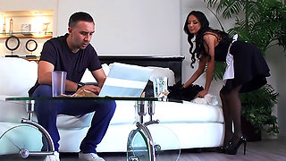 Maid Anissa Kate has anal sex with her boss