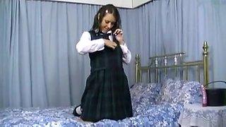 Jess west schoolgirl solo 1