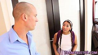 Latina teen babysitter