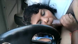 Puffy Secretary Drawing Indian Chef Dick In Car