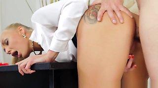 Secretary Mistress Gets Banged Before Titfuck