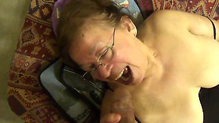 Mexican granny masturbates for me and then goes straight for my cock