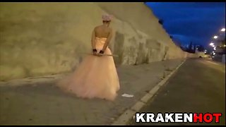 Krakenhot - Public submission with a Hard Bride Outdoor BDSM
