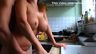 Cheating Wife Fucked Doggy Style In The Kitchen